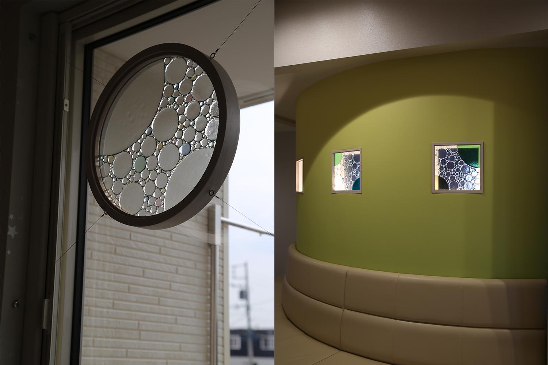 RIKOSPOPPOの綺麗な丸いガラスを取り付けた窓と小窓:澪工房