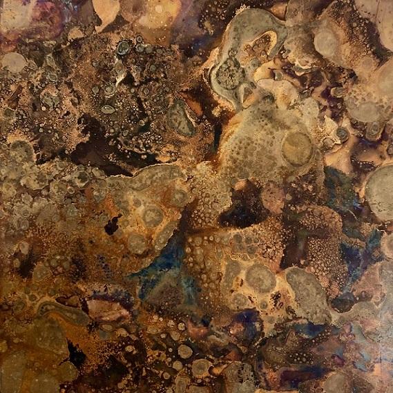 モメンタムファクトリーOriiの斑紋孔雀色の雰囲気:澪工房