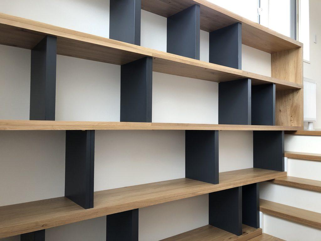 道産ナラ材のオーダー書棚