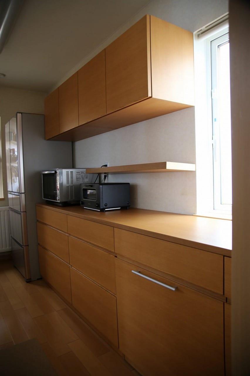 特注のキッチン収納