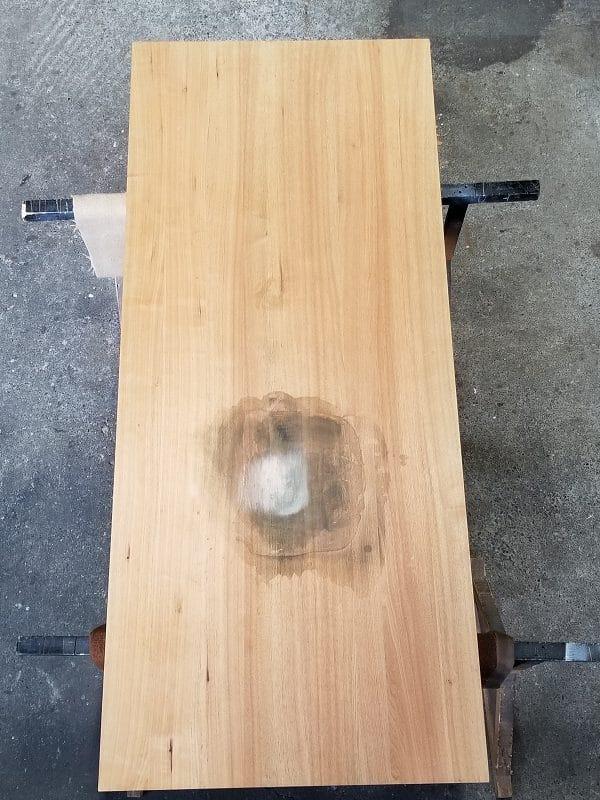 オキシクリーンでアルカリ焼けしたテーブル