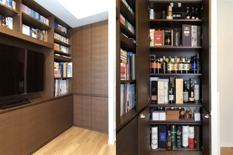 オーダー書棚とウイスキー収納